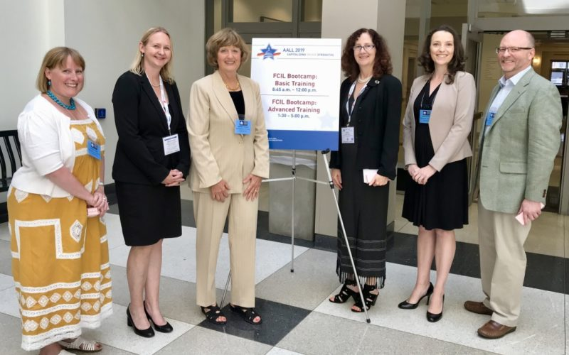 Speakers at the AALL 2019 Pre-Conference workshop for the Special Interest Section on Foreign, Competitive and International Law